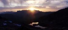 Couché de soleil au Lac Cornu